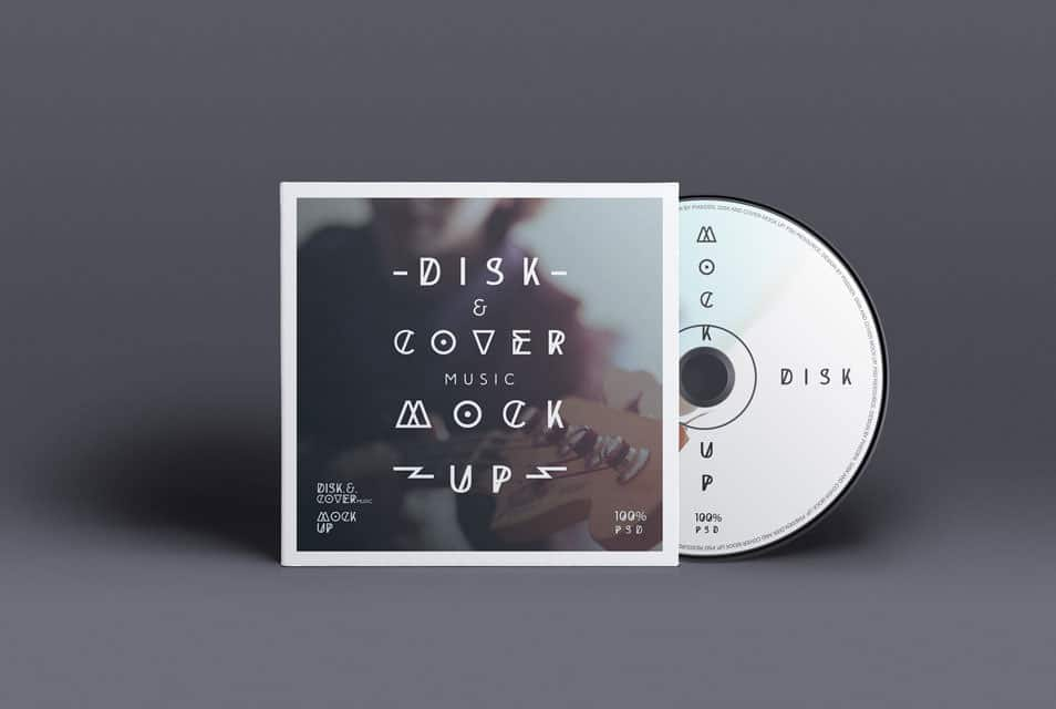 Psd CD Cover Disk Mock Up