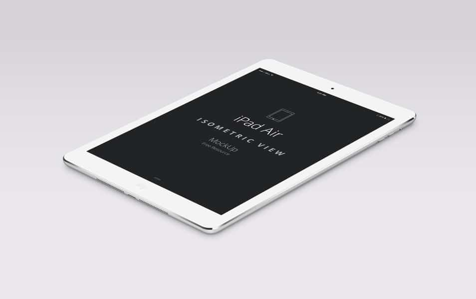 Psd iPad Air Perspective Mockup