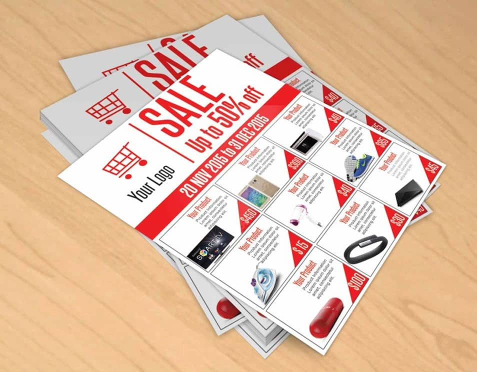 Sale Flyer Free PSD Template