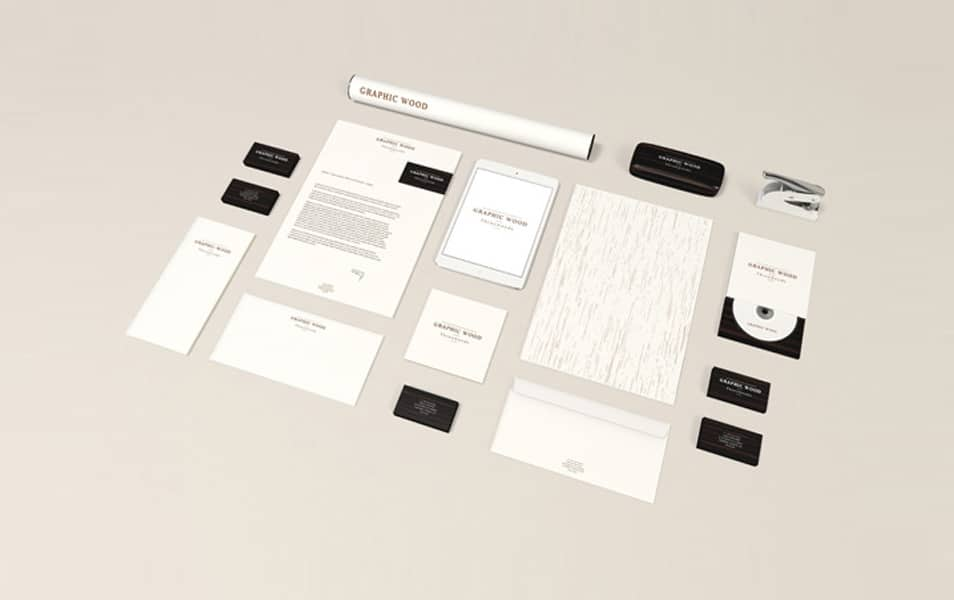 Stationery MockUp – Wood Edition