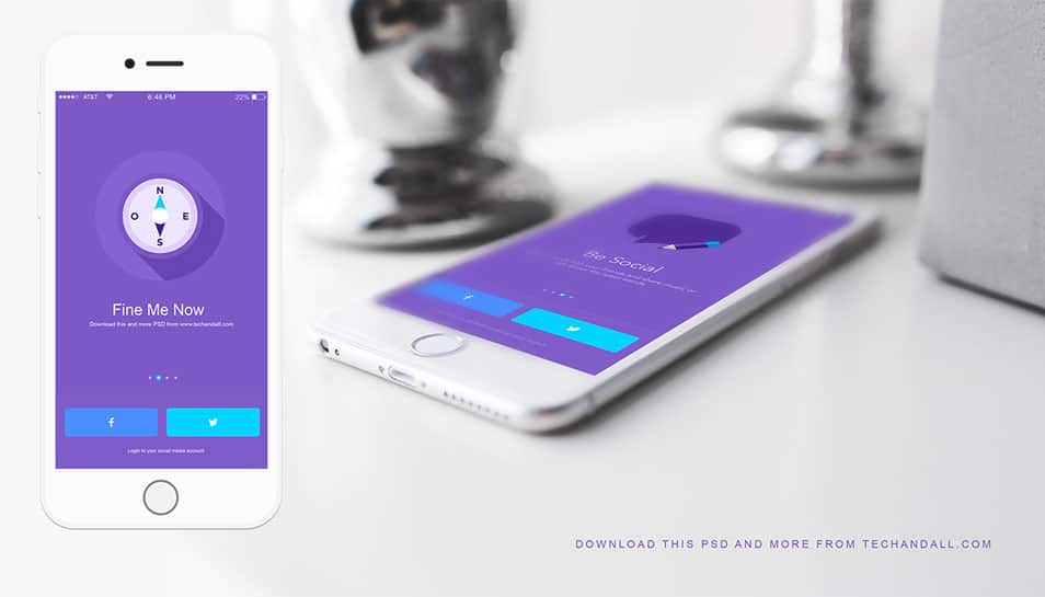 iOS App Showcase Mockup PSD