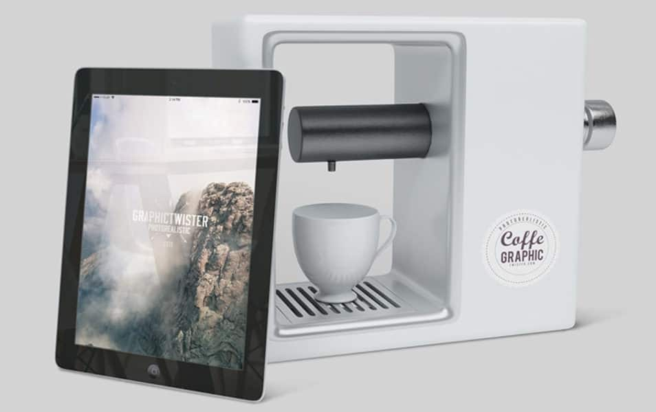 iPad and Coffee Maker