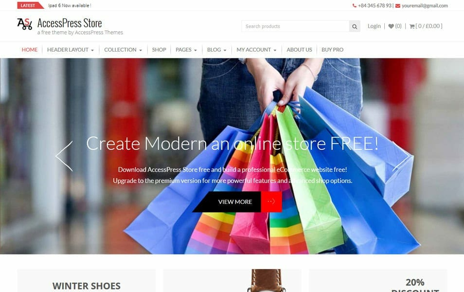 AccessPress Store Responsive WordPress Theme
