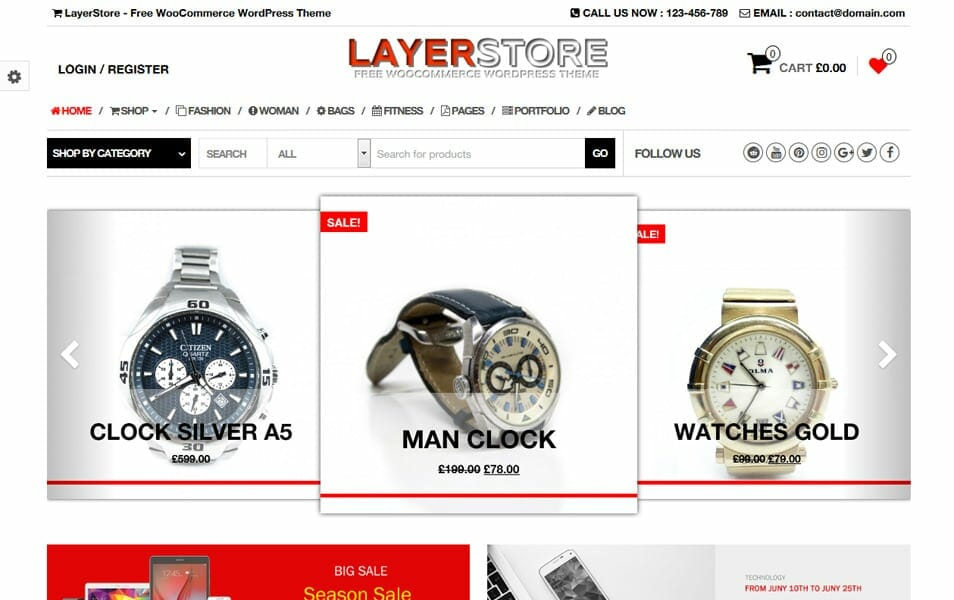 LayerStore Responsive WordPress Theme