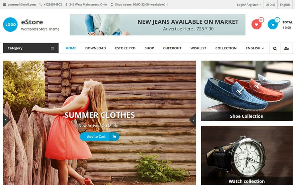eStore Responsive WordPress Theme