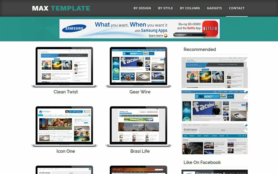 Max Template Responsive Blogger Template