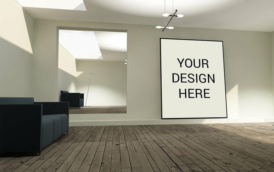 Realistic Stylish wall MockUp