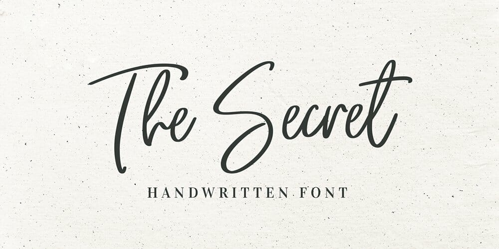 The Secret Free Handwritten Font Download