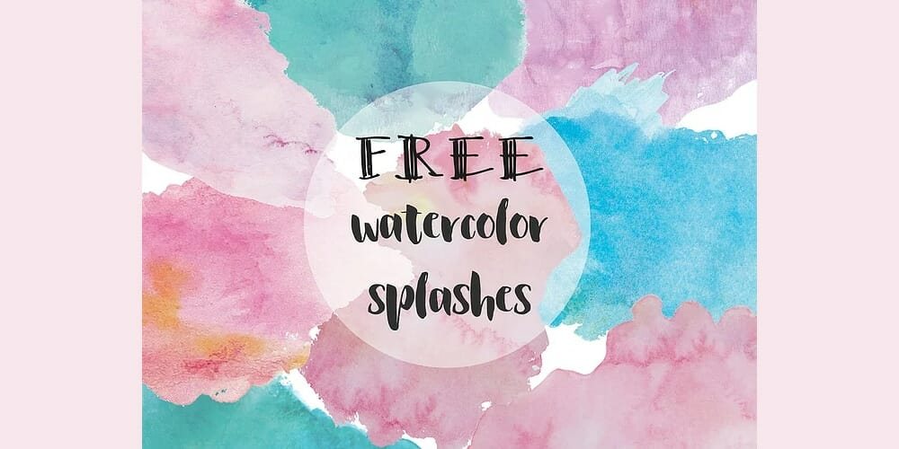 Free Watercolor Blobs