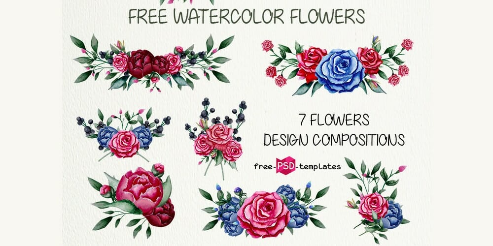 Free Watercolor Flowers