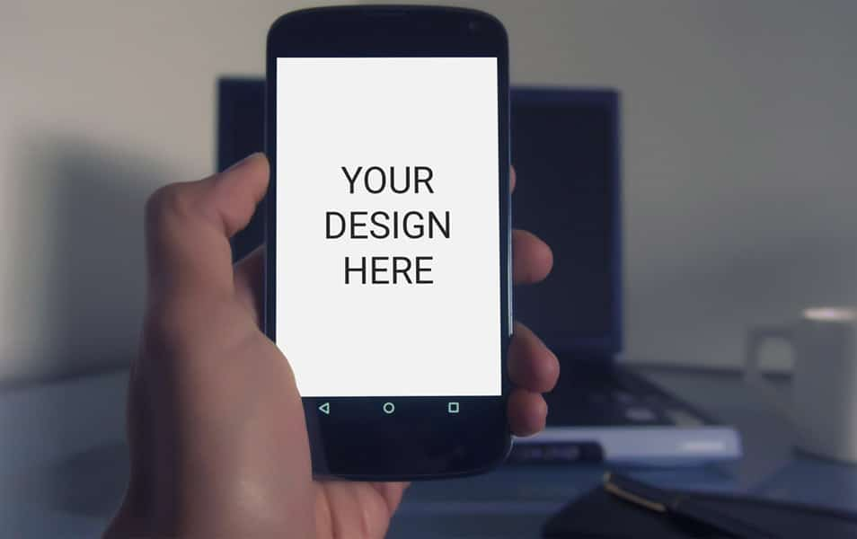 Man Using Smartphone Mockup