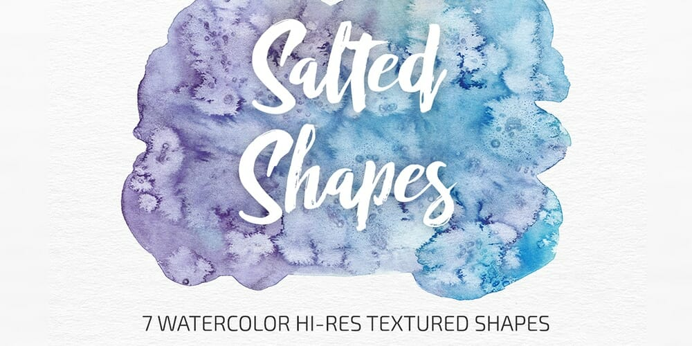 Salted Watercolor Shapes