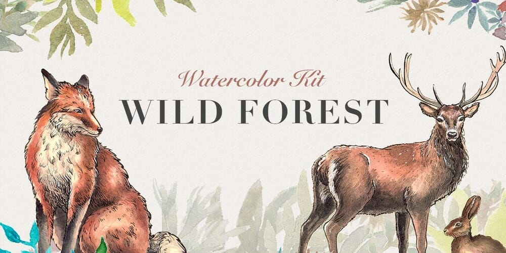 Wild Forest Watercolor Kit