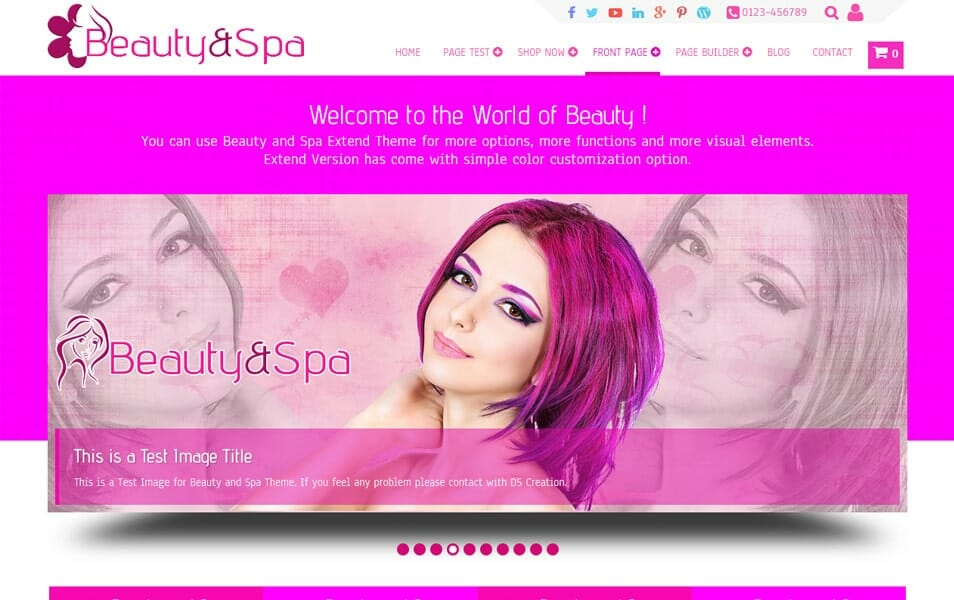 Beauty and Spa Responsive WordPress Theme