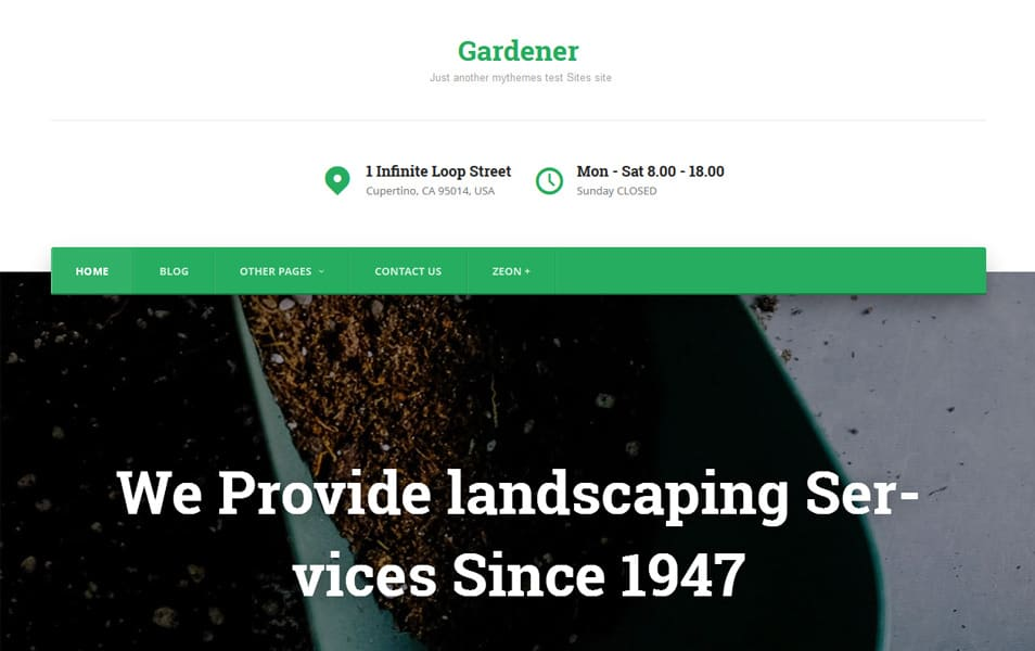 Gardene Responsive WordPress Theme