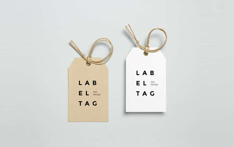 Label Tag PSD MockUp #2