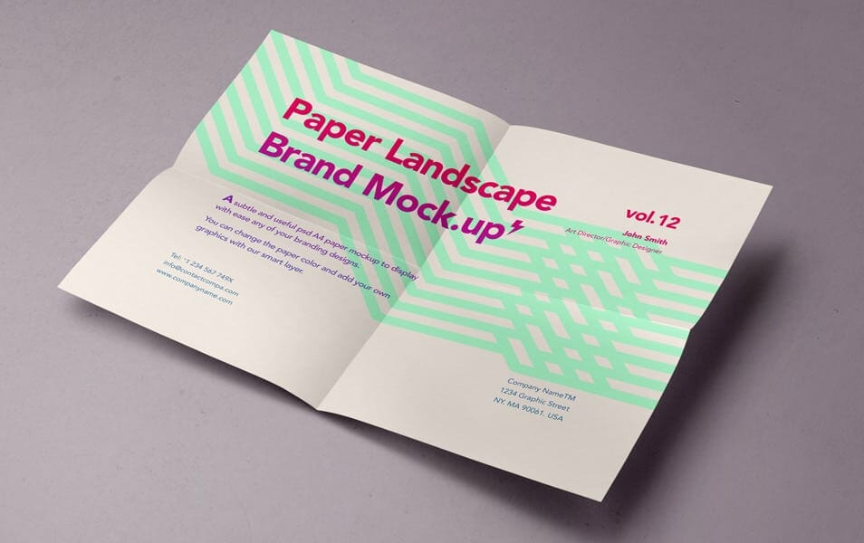 Psd A4 Paper Mock-Up Vol12