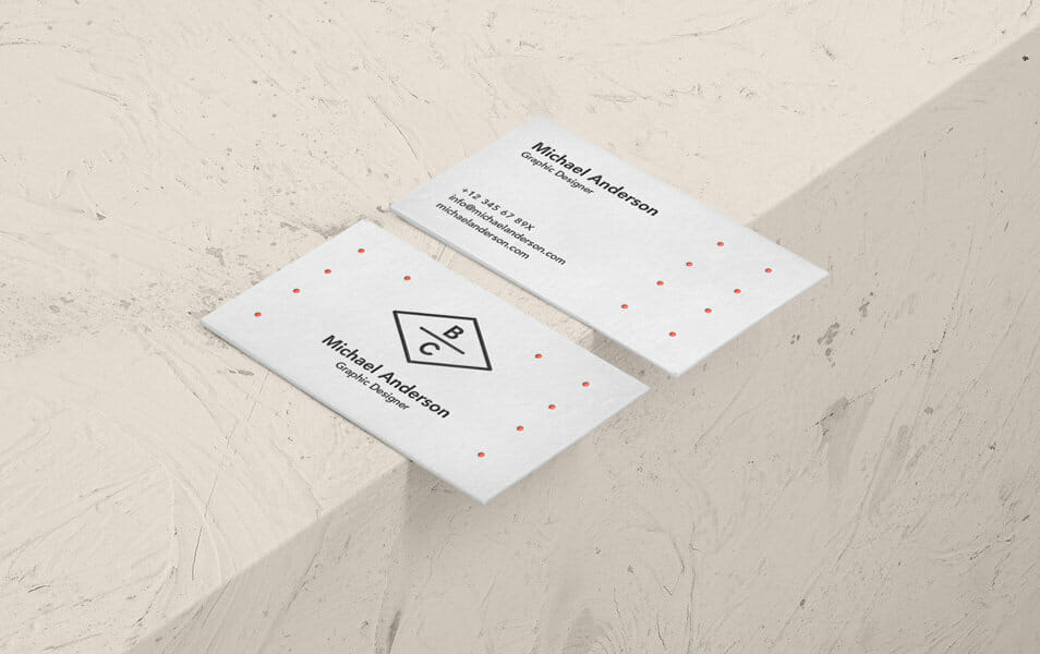 Psd Business Card Mock-Up Vol35