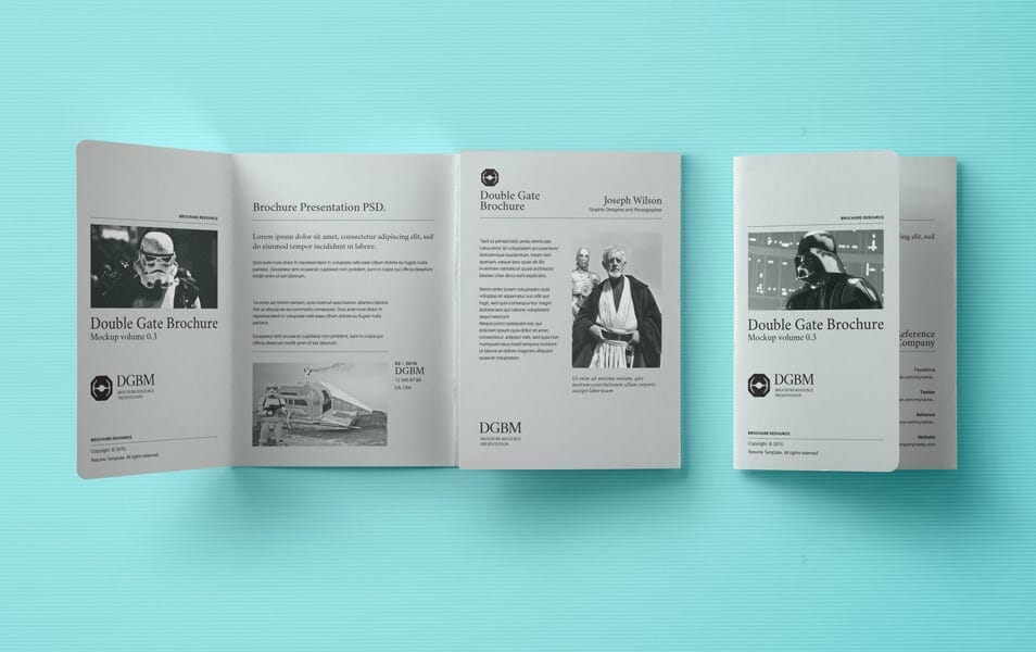 Psd Double Gate Fold Brochure Vol3
