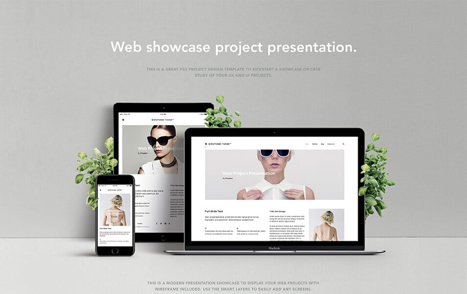 Psd Screen Web Showcase