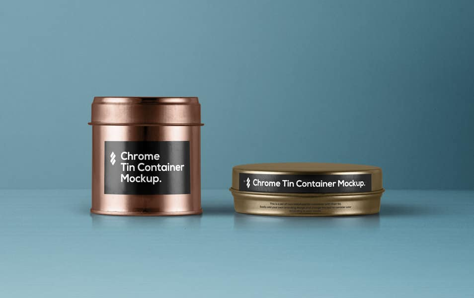 Psd Tin Container Packaging Vol4