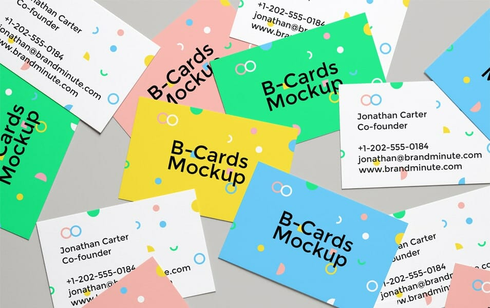Realistic Business Cards MockUp #4