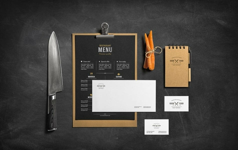 Restaurant & Bar Stationery Branding Mockup