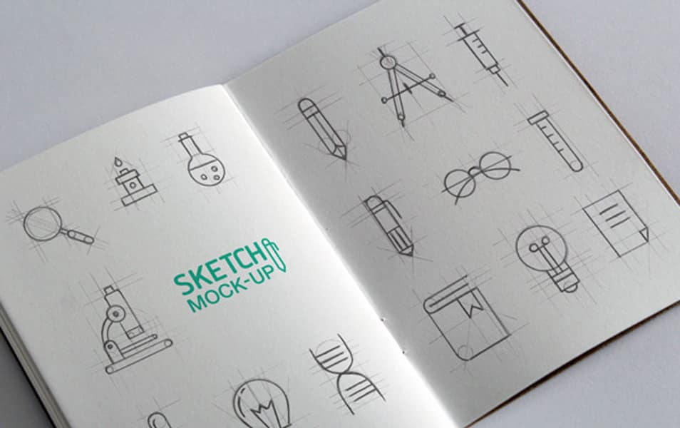Sketchbook MockUps PSD #2
