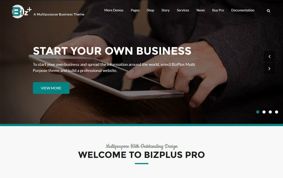 BizPlus Responsive WordPress Theme