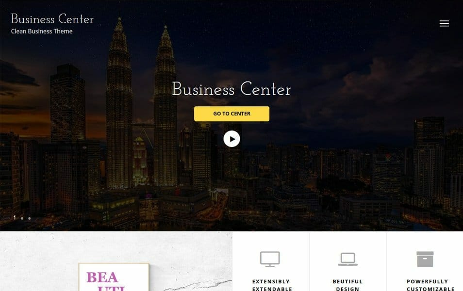 Business Center Responsive WordPress Theme