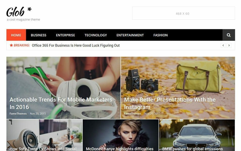 Glob Responsive WordPress Theme