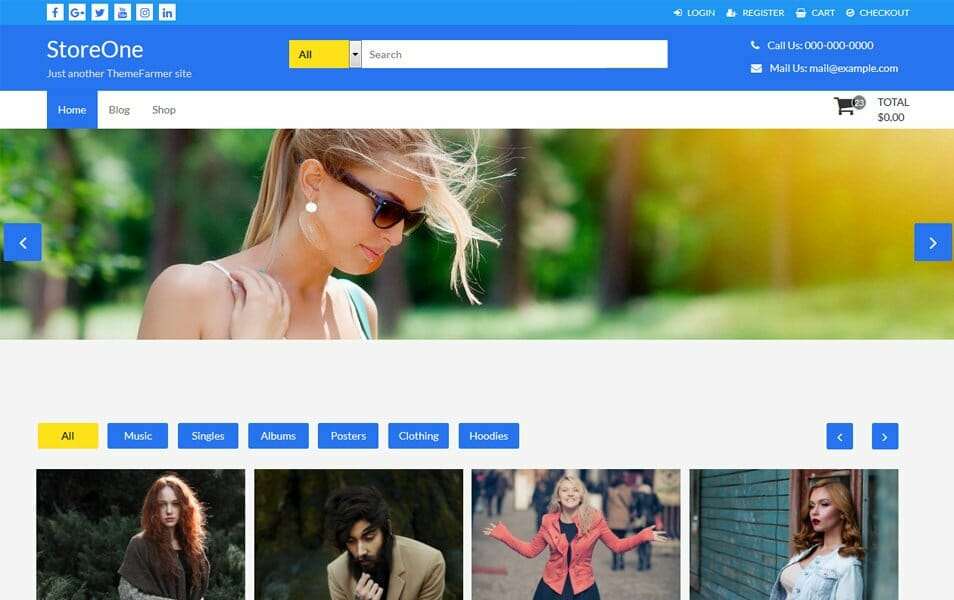 StoreOne Responsive WordPress Theme