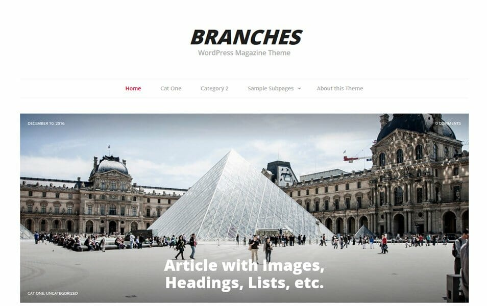 Branches Responsive WordPress Theme