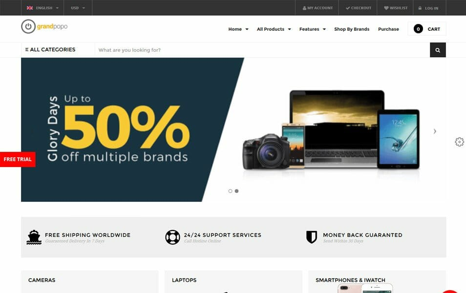 Grand-Popo Responsive WordPress Theme