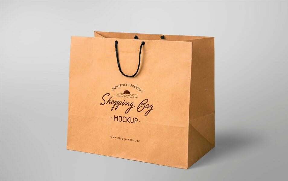 Simple & Appealing Free Shopping Bag Mockup