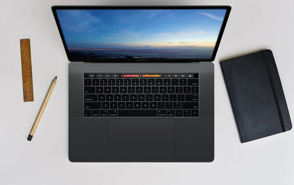 2 Elegant Macbook Pro Tocuh Bar MockUps