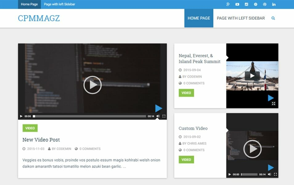 20+ Free Material Design WordPress Themes 2018 » CSS Author