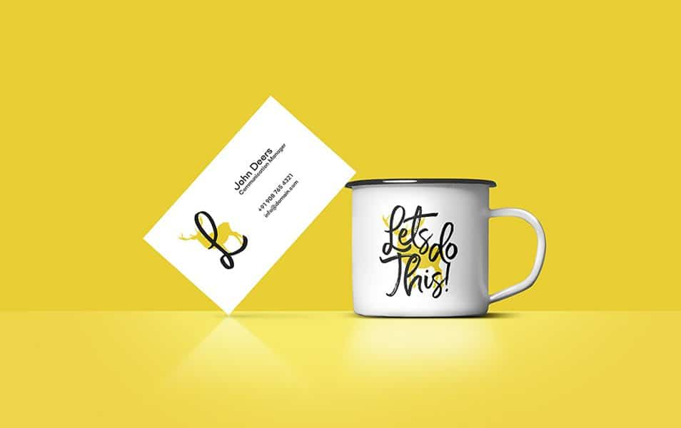 Free Business Card And Coffee Cup Mockup