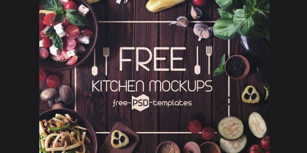 Free Kitchen Mockup PSD