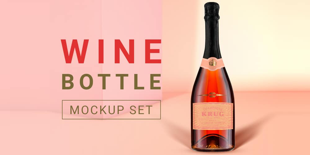 Free Wine Bottle Scene Creator PSD