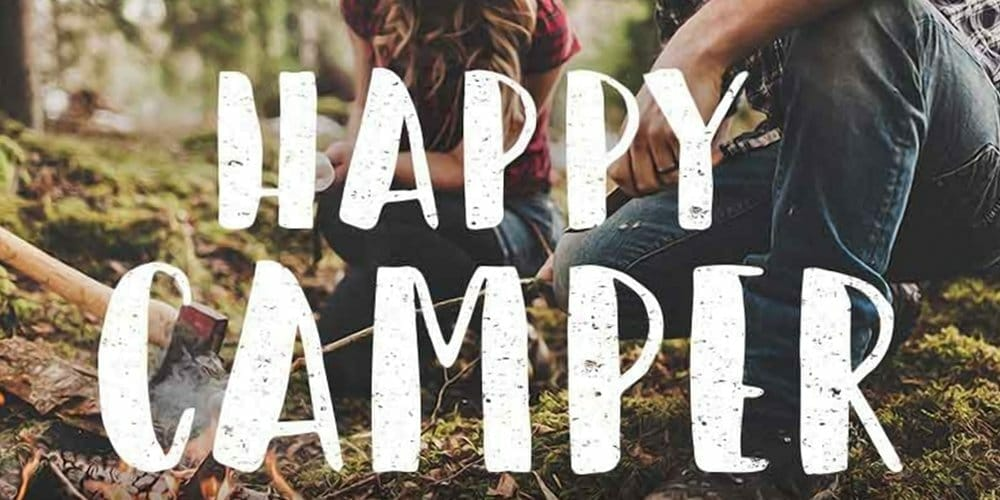 Happy Camper Brush Font
