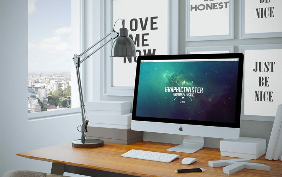 Home Workspace mockup