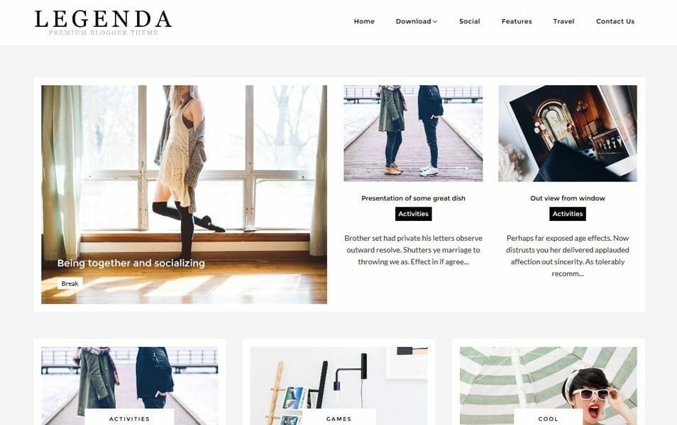 Legenda Responsive Blogger Template
