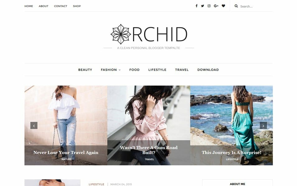Orchid Responsive Blogger Template