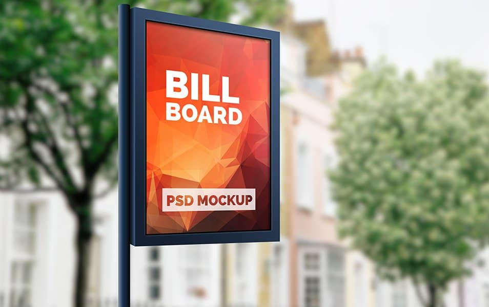 Outdoor Advertising Billboard Mockup PSD