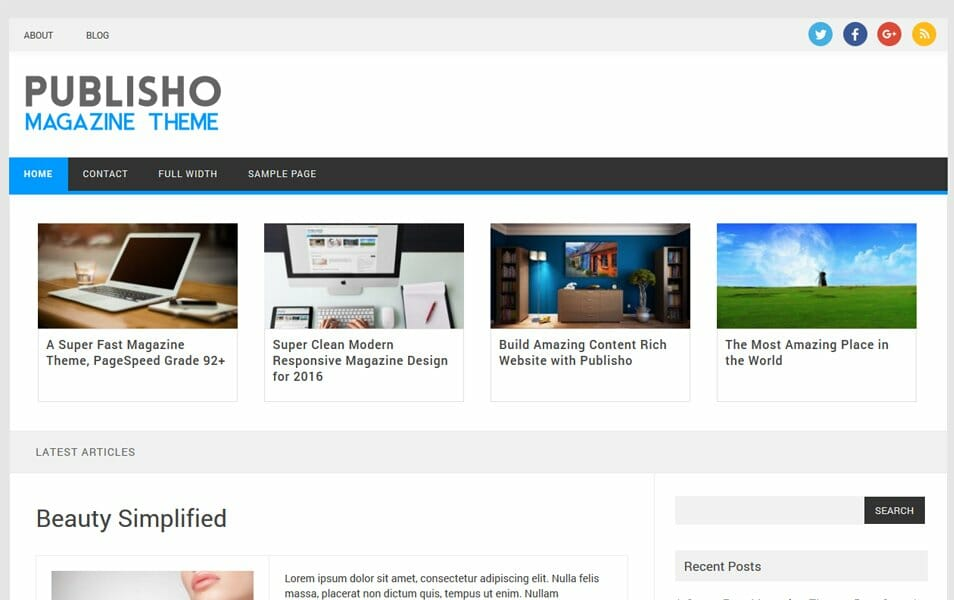 Publisho Responsive WordPress Theme
