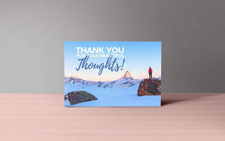 Thank You Notes Card Mockup PSD