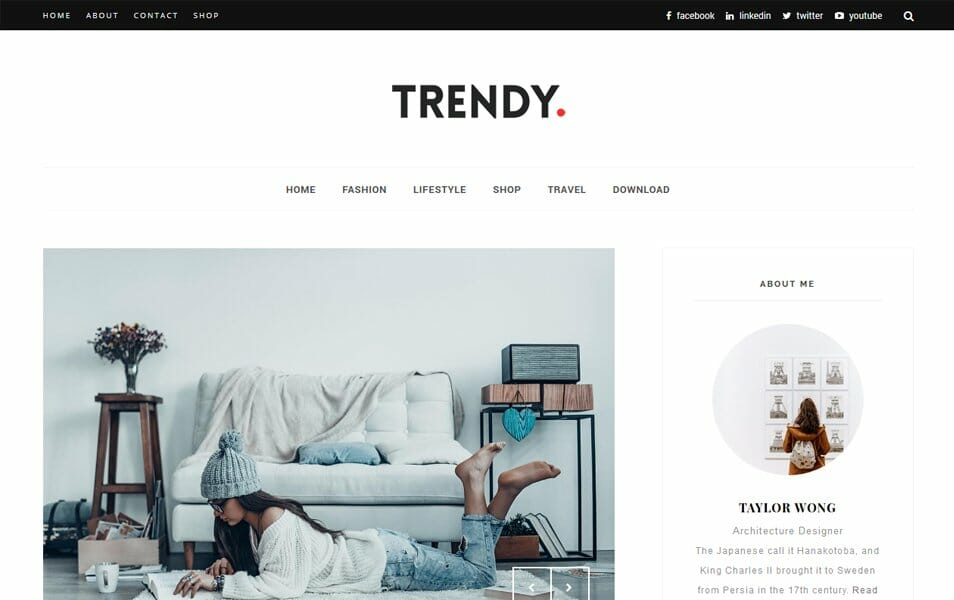 Trendy Responsive Blogger Template