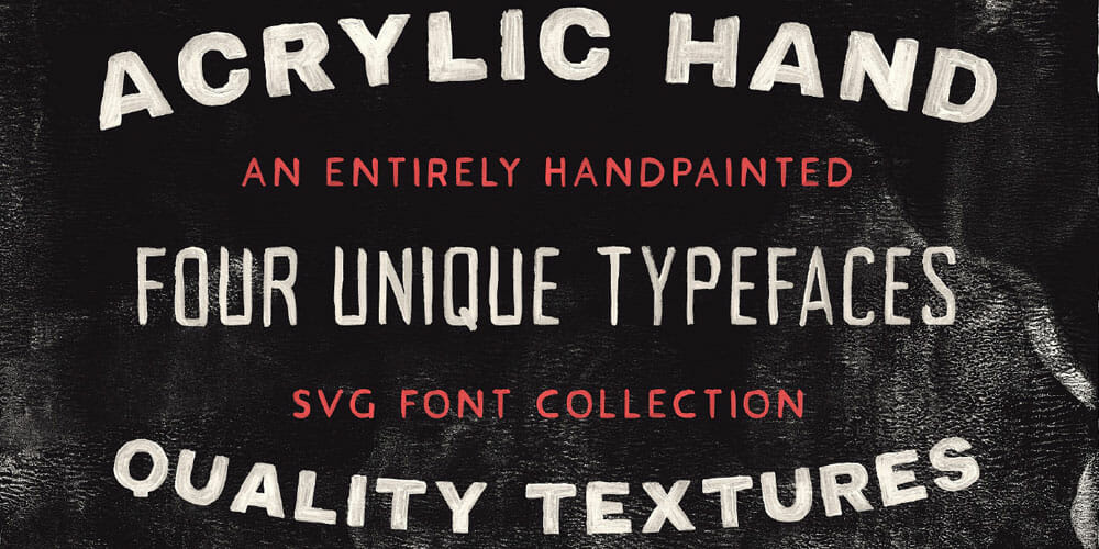 Acrylic Hand Thick SVG Font