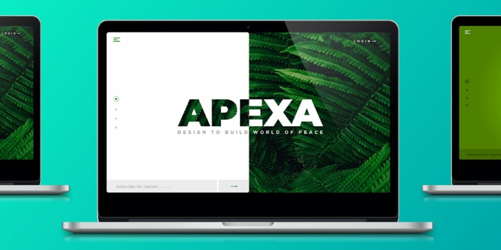 Apexa Landing Page Design Template